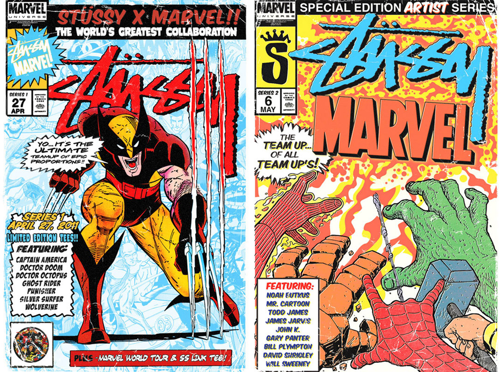stussy marvel posters
